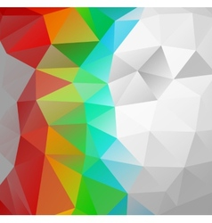 Triangle background Multicolor polygons vector image