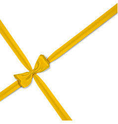 yellow realistic bow vector image