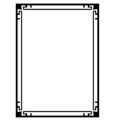 Art Deco black ornamental decorative frame vector image