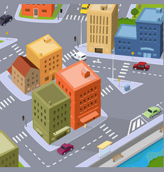 Cartoon city traffic vector