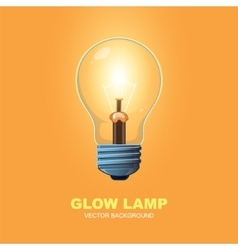 glow lamp background vector image