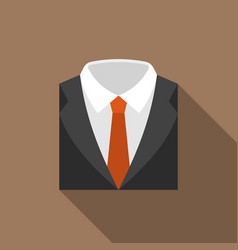 Suit and tie icon with long shadow vector