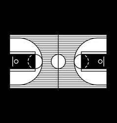 a hardwood basketball court vector image