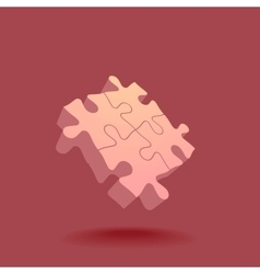Abstract 3D puzzle design element vector