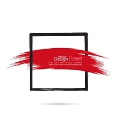 Abstract background with square banner vector