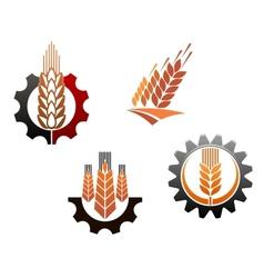 Agriculture symbols set vector image