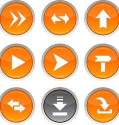 Arrows icons vector image