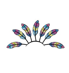 Beauty diadem of feathers design decoration vector