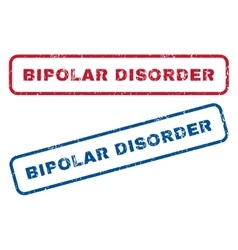 Bipolar Disorder Rubber Stamps vector