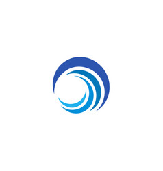 Blue wave logo isolated abstract decorative vector