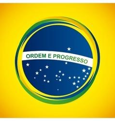 brazil stamp design vector image