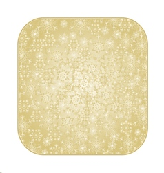 Button square Christmas with snowflakes vector image