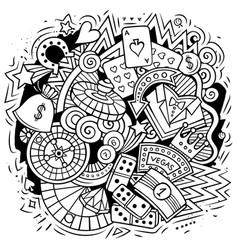 Casino cartoon doodle design vector