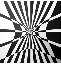 Checkered pattern with distortion effect art vector