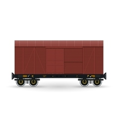 Closed Wagon Isolated on White vector