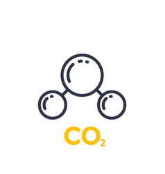 Co2 molecule line icon vector