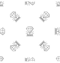 diamond stone pattern seamless vector image