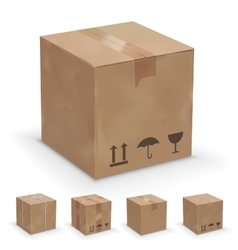 different boxes vector image