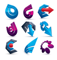 Dimensional business and corporate graphic vector