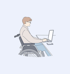 Disability business freelance work online vector