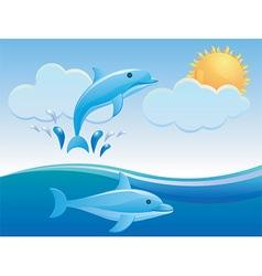 Dolphin design vector