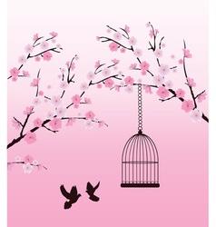 Dove love cage vector