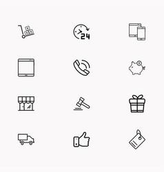 E-commerce line icon set vector