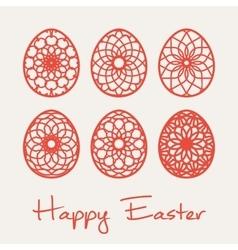 Easter ornamental eggs vector image