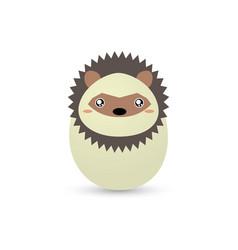 Easter porcupine egg vector