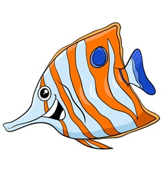 Exotic fish cartoon character vector