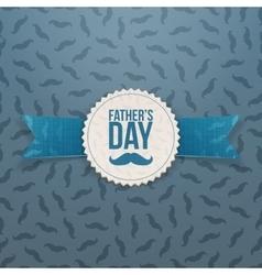 Fathers Day realistic Banner with Ribbon and Text vector