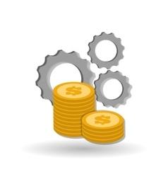 Graphic design of money vector image