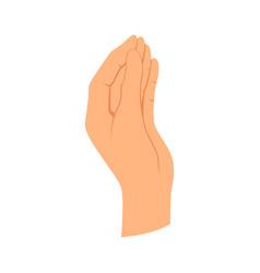 Hands gesture communication language or vector
