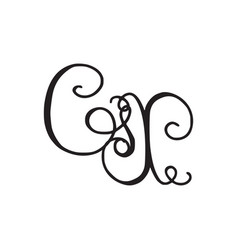 Handwritten monogram gx icon vector