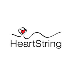 heart string vector image