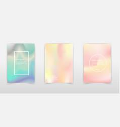holographic foil backgrounds set futuristic vector image