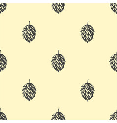 Hop beer seamless pattern background vector