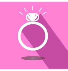 Icon wedding ring vector image