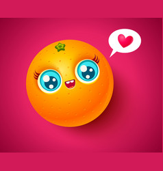 Kawaii orange vector