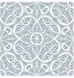 Lace texture cutout paper pattern vector