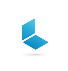 Letter l notebook logo icon design template vector