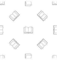 letters pattern seamless vector image