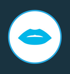 Lips icon colored symbol premium quality isolated vector