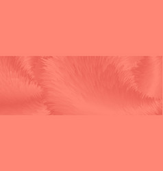 living coral abstract fluffy fur banner vector image