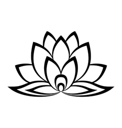 Lotus flower sign vector image