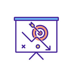 Low priority task rgb color icon vector
