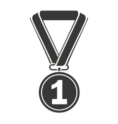 Medal first place icon vector