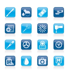 Medicine and hospital equipment icons vector image