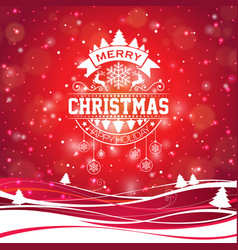 Merry christmas with typography and vector
