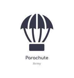 parachute icon isolated icon from army vector image